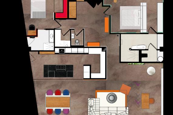 Plan 2D aménagement