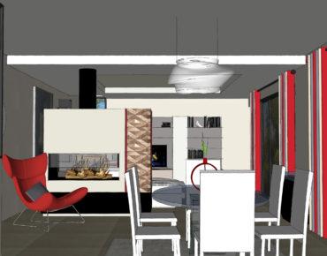 Salle à manger contemporaine sur Bouc Bel Air, par Viviane Bedos, Décoratrice UFDI à Rognac (13)